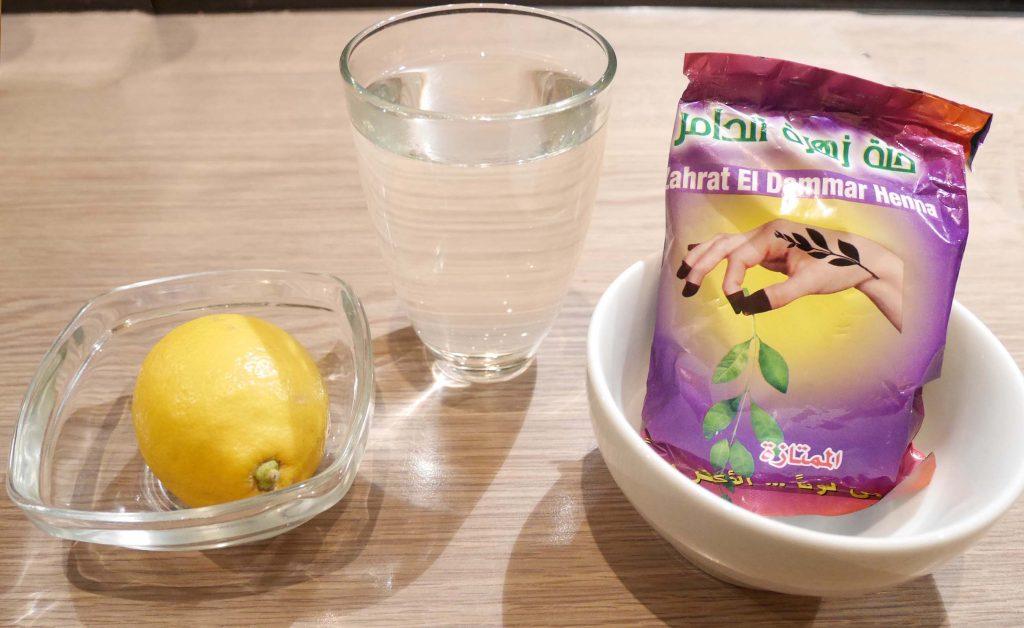 ingredienten henna masker